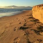 Arena menguante en la Playa de los Peligros