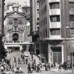 Calvo Sotelo y la iglesia de la Anunciación hace unos cuantos años