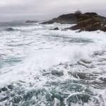 Mar batida en el Sardinero