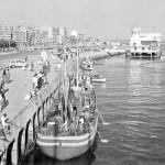Santander cuando los barcos de pesca atracaban en el muelle Calderon