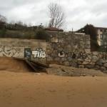 Los daños del temporal también han llegado al balneario de la Magdalena