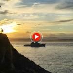 El patrullero Serviola entrando en la bahía santanderina. Hoy y mañana lo puedes visitar