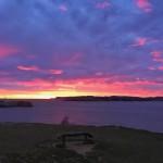 Los tonos cambiantes de un amanecer de sur