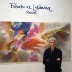Literatura hecha pintura con los trazos de José Ramón Sánchez en la Biblioteca Central de Cantabria