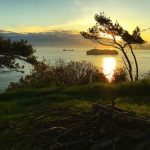 Llegar a la bahía de Santander en un amanecer de primavera