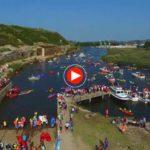 Cómo se lo pasan los de Suances en el descenso popular de la ría de San Martín