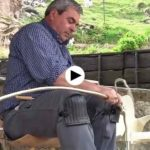 Así se hace un cuévano en Cantabria