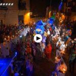 La cabalgata de Reyes de Santillana del Mar desde el aire