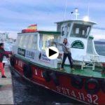 Se desamarra una barca de Los Reginas, momento de susto y rápida reacción