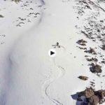 Esquiando en la naturaleza salvaje de los Picos de Europa