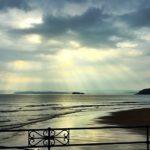 La belleza de un rayo de sol sobre el Sardinero