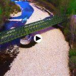 El puente de hierro del antiguo ferrocarril Astillero Ontaneda