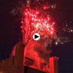 El Palacio de Festivales bajo los fuegos artificiales de la Copa del Mundo de Vela