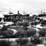 Santander cuando los transatlánticos atracaban junto a los jardines de Pereda