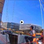 Entrenando en la bahía de Santander