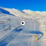 Los cañones de nieve de Alto Campoo, a pleno rendimiento