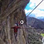 Para los locos de la escalada, la vía ferrata de Camaleño