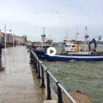 Hay días en que los pesqueros recogen pasajeros en el muelle Calderón