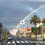 Arco iris sobre la ciudad