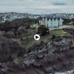 Mar que bate los acantilados de Santander