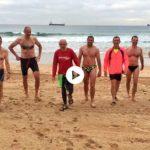 Empezar la semana nadando con los amigos en el Cantábrico