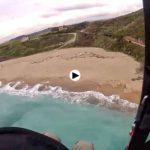 Volando en la playa de Usgo
