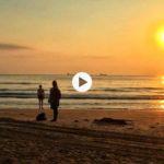 Amanecer al borde del mar Cantábrico