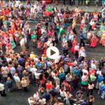 El chupinazo de la Semana Grande en imágenes: las gigantillas, el desfile…