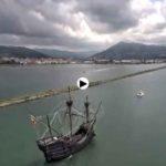 La Nao Victoria arribando al puerto de Colindres