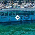El primer barco de pasajeros que funciona con energía solar de Europa navegando por Raos