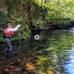 De pesca en un maravilloso rincón del río Gándara