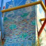 Las bañistas de la Torre del Rhin piden su restauración a gritos