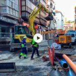 Así vimos hoy las obras de la calle Cervantes