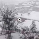 ¡Vaya nevada está cayendo en Cucayo!