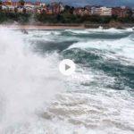 El temporal visto desde la península de la Magdalena