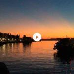 Las primeras luces del alba en la bahía de Santander