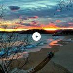 El Sardinero con las nubes pintadas de sur