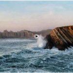 Costa Quebrada en un día de furia de mar
