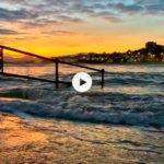 Amanecer junto a las olas del Sardinero