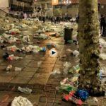 Un clásico del 1 de enero: Cañadío y la Plaza de Pombo a las 7 de la mañana