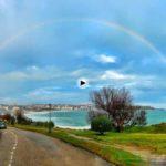 Entre chaparrón y chaparrón un arco iris que cubre Santander