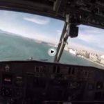 Nos colamos en la cabina de uno de los hidroaviones que hoy ha cargado agua en la bahía de Santander