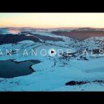 La quietud del pantano de Alsa cuando está nevado