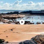 Una bajamar impresionante: los santanderinos visitan a pie la isla de la Torre
