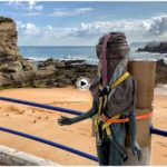 El niño Neptuno ya está preparado para volver a su roca del Camello