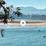 Esos días en que la bahía se queda sin agua y el Puntal y Somo se acercan a Santander más que nunca