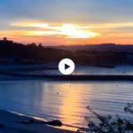 Un amanecer de sur con la playa planchada