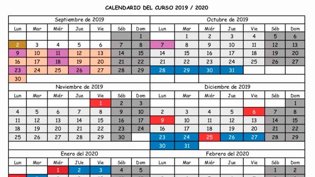 Calendario Escolar 2020 Cantabria.Este Es El Calendario Escolar De Cantabria Para El Curso 2019 2020