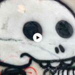 Los grafitis de la senda de Mataleñas