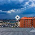 Así ha llegado la tormenta a Santander
